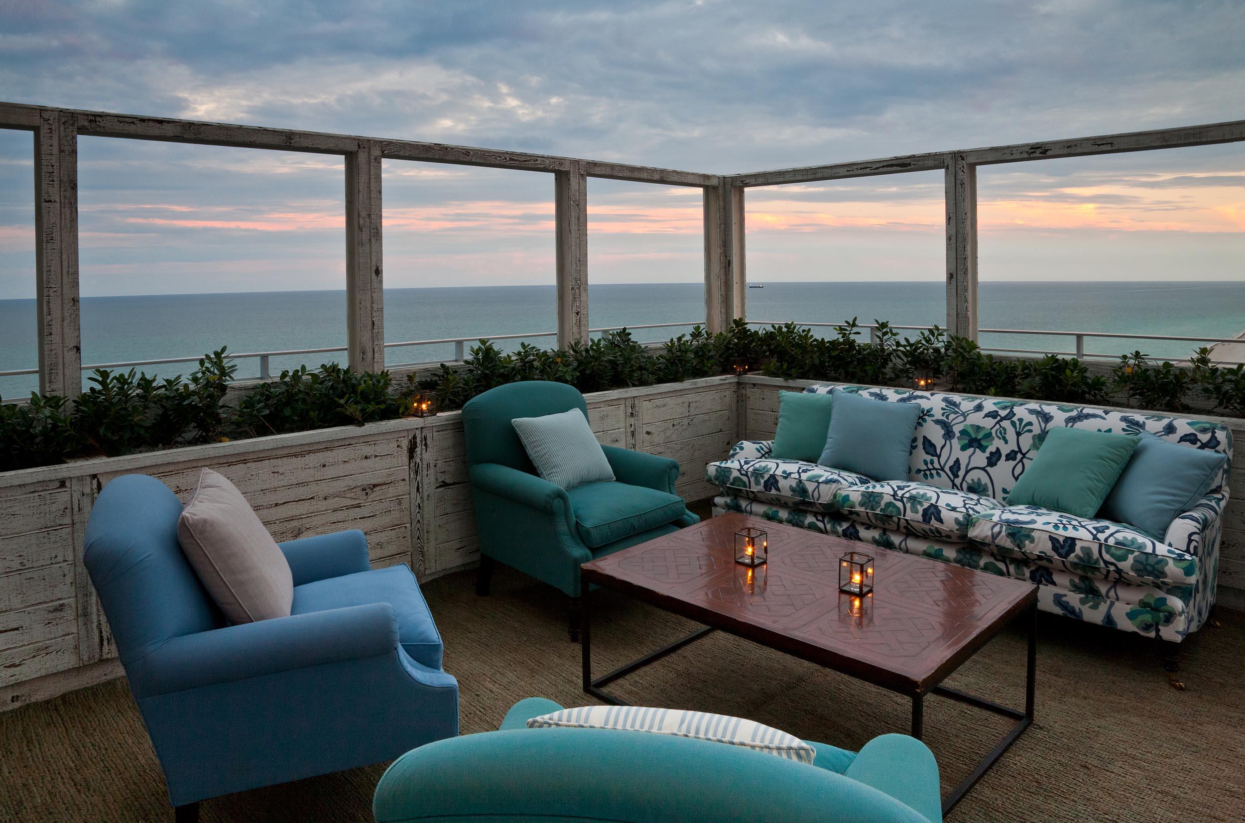 Soho Beach House Penthouse view in Miami Florida