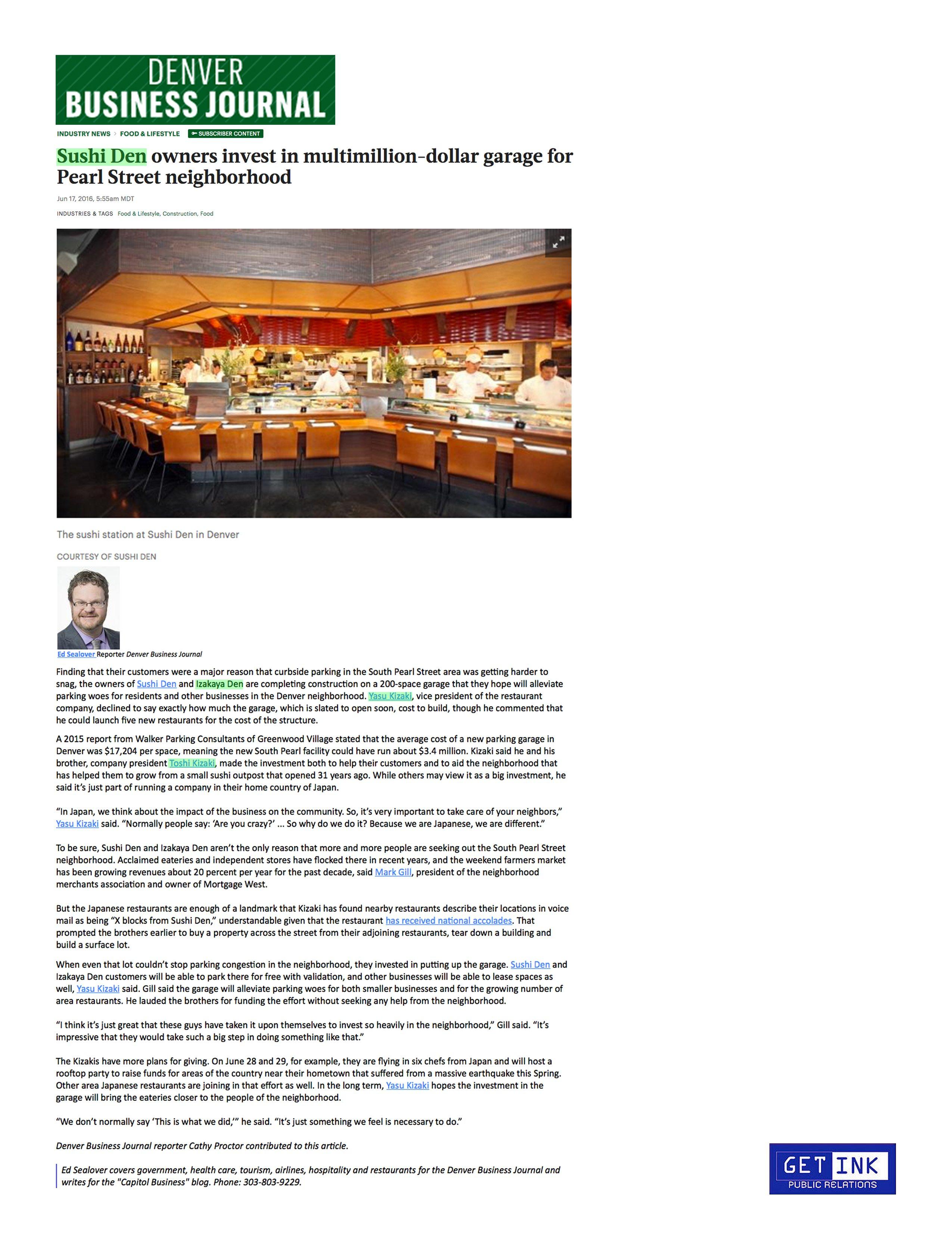Denver Business Journal 6.17.16