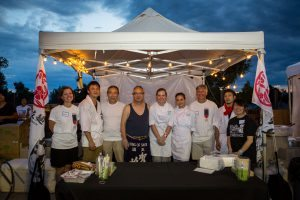 Toshi and Yasu Kizaki with chefs