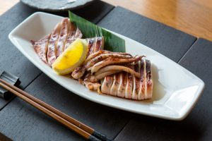 Robata-grilled Whole Squid