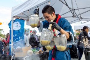 Chefs slinging ramen